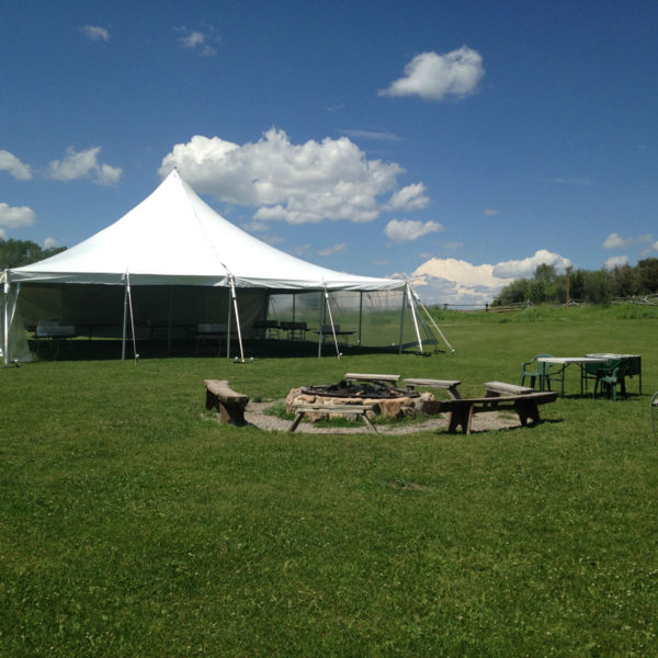 40 ... & 40u0027 x 40u0027 White Wedding Tent - Teton Rental